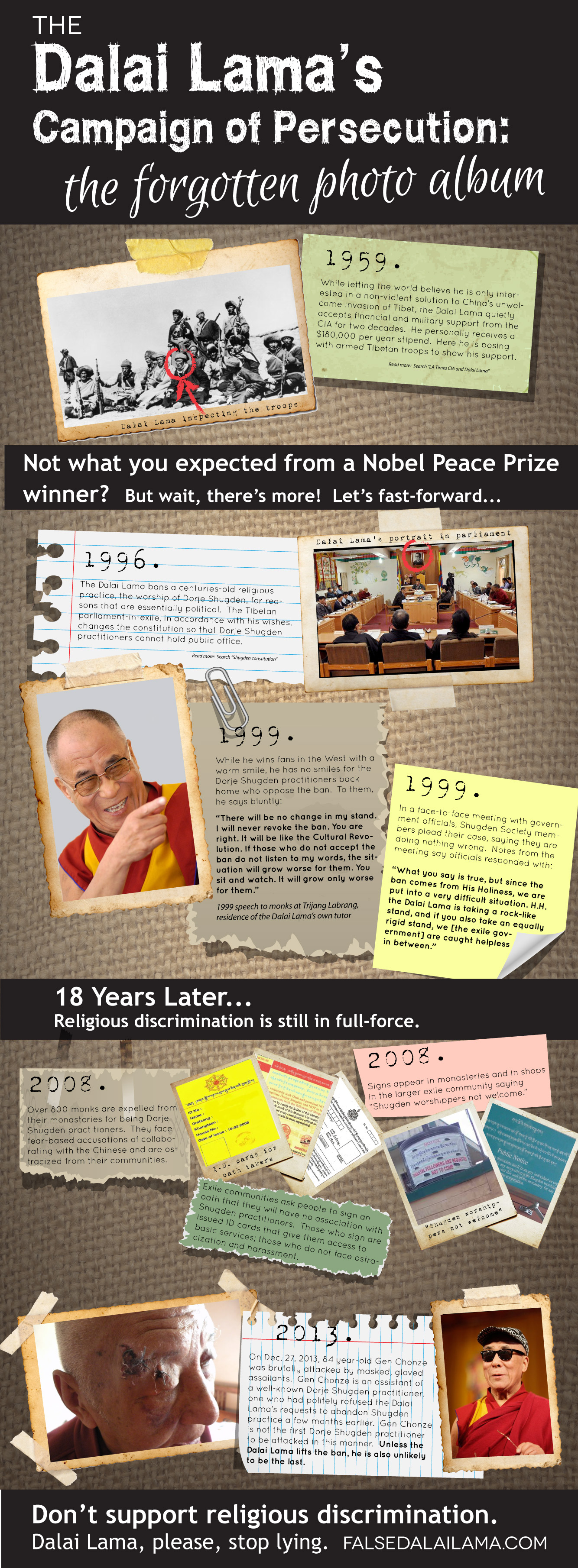 The Dalai Lama's Campaign of Persecution
